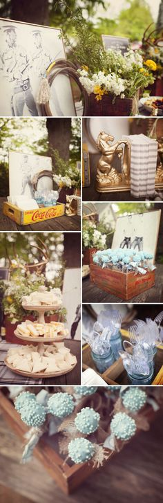 Cowboy Themed Baby Shower. This one done without the extreme cheesiness that usually comes with western/cowboy theme.