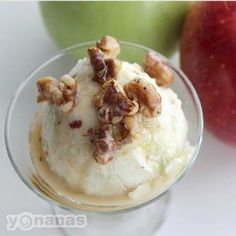 Apple Maple Walnut Yonanas Recipe. I'm so getting us a Yonanas machine. I'm sick of wasting fruit. Also, how great does this look?