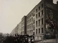 The rear of the tall Georgian Houses of Summerhill. All demolished. Picture taken on Rutland Street Lower. Rutland Street School is just out of shot on the left hand side. Dublin Street, Dublin City, Dublin House, Photo Engraving, Georgian Homes, Slums, Photo Hosting, Dublin Ireland, Old Pictures