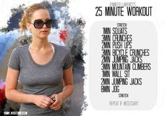 Jennifer Lawrence's 25 Minute Workout  #QuickWorkout #Exercise #Fitness