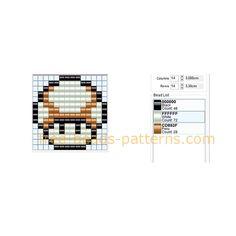 Super Mario Bros brown mushroom free pixel beads fuse beads Hama beads deisgn