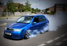 Smokin fabia Skoda Fabia, Modified Cars, Vehicles, Ideas, Cars, Pimped Out Cars, Thoughts, Vehicle, Tools