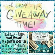 FREE mini facial! Yep, that's right FREE! I'm thinking of doing a giveaway, so I'm looking to see who would be interested smile emoticon   If you would love to try some of Rodan+ Fields most Loved products for FREE like my post.   I will be doing a contest very soon, but first I want to see who would be interested in a FREE Facial!