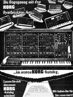 KORG Synthesizer Anzeige 1979