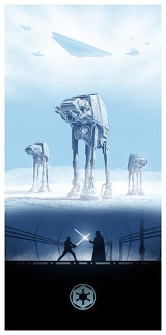 Artist Marko Manev created this awesome set of Star Wars trilogy Triptiych art.  Each one includes similar elements from the films to make up the wonderful design of the posters. These are a great set to own, and they are available at Bottleneck Gallery.