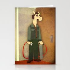 No Country for Old Unicorn Stationery Cards by That's So Unicorny - $12.00