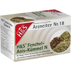 H&S Fenchel-Anis-Kümmel N Filterbeutel:   Packungsinhalt: 20 St Filterbeutel PZN: 11213319 Hersteller: H&S Tee - Gesellschaft mbH & Co.…