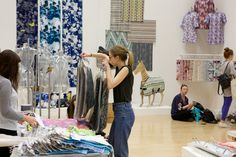 Setting up the Textiles Threads Degree Show