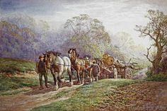 Charles James Adams - A Logging Team returning Home