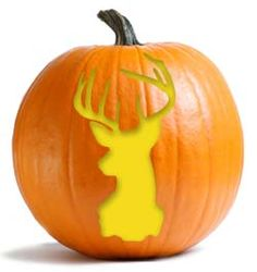 Hunting pumpkin stencils - use silhouettes for other crafts
