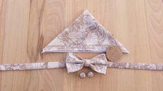 Gentlemen set  navy style bow tie  blue pocket by SERENEhandmade