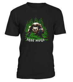 Free Bear Hugs - Funny Camping T Shirt - Limited Edition