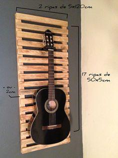 http://www.homensdacasa.blogspot.com.br/# Suporte do violão com pallets