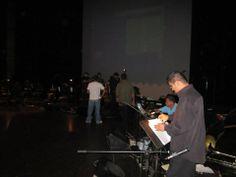 En los ensayos antes del evento.