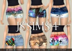 Ombre Denim Shorts N1 ~ N6 at JS Sims 4 via Sims 4 Updates