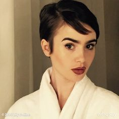 Holy Audrey Hepburn? The young starlet's new pixie seriously amplifies her uncanny resemblance to the iconic silver screen star.