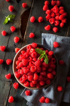 seasonalwonderment:  brenthofacker:  Organic RaspberriesNom Nom Photography  ♥