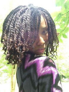 Lovely #twists #naturalhair  Queen Samantha ~ Queen Of Kinks, Curls & Coils™ (Neno Natural) - Neno Natural ~ We Grow Big, Beautiful Afros!  #curlyhair #kinkyhair #nenonatural #vlogger #blogger #hairblogger