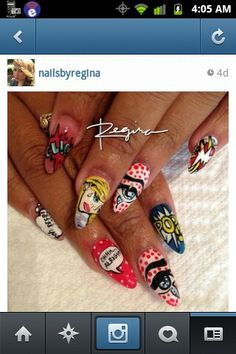 Nails Pop Art Nails, Get Nails, Pretty Nails, Nail Art Designs, Ms, Future, Makeup, Hair, Ideas