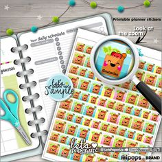 Groceries Stickers Printable Planner Stickers von LetsPaperUp