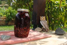 Maturing our home made wild cherry brandy! We will serve it to you, when you visit Slops of Aigion, through http://bizz-fizz.gr