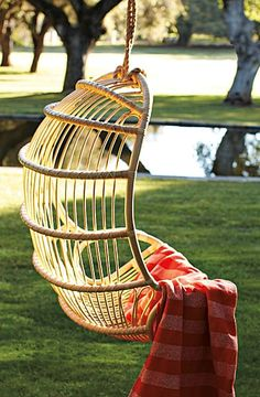 Hanging Rattan Chair ~❥ Want!