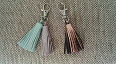 Keychain Leather Tassels made to order.