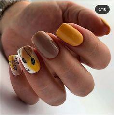 Yellow Nail Art, Mani Pedi, Love Nails, Nail Arts, Summer Nails, Nail Art Designs, Beauty, Nail Ideas, Hair