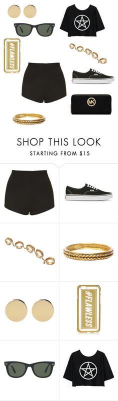 """Untitled #56"" by thetwerkingmeatball ❤ liked on Polyvore featuring mode, Topshop, Vans, Eddie Borgo, Chanel, River Island, Ray-Ban et MICHAEL Michael Kors"