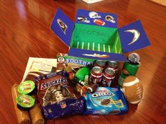 Football themed care package