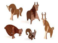 Moderne Wood Animals via Design Crush