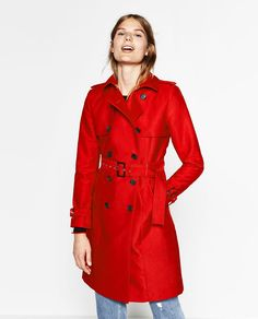 Image 2 of WATER RESISTANT TRENCH COAT from Zara