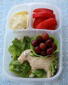 Fun animal themed school lunch via http://eclecticlamb.com/