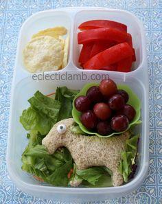 Fun animal themed school lunch via http://eclecticlamb.com/