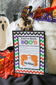 "Monsters, Ghosts, and Witches too, everybody likes a ""BOO"". Fill your basket with yummy treats and give it to your neighbors for them to eat! #BooItForward"