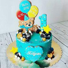 Мишка❤ и прекрасный тортик от Леночки @elkot_bakery  #воронеж #егоркиныпряники #имбирныепряники #медовыепряники #тортворонеж #топперы