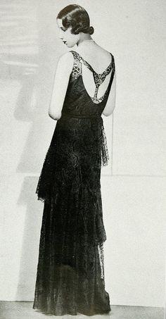 """Les Modes (Paris) 1931 """"Sirene"""" Robe du Soir. Creation de Premet."""