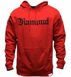Diamond Supply Co Diamond 4 Life Hoody Red