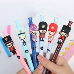 1 PCS Kawaii Cartoon Soldier Ballpoint Pens Korean Stationery Ball Point Pen for Kids School Supplies #>=#>=#>=#>=#> Click on the pin to check out discount price, color, size, shipping, etc. Save and like it!
