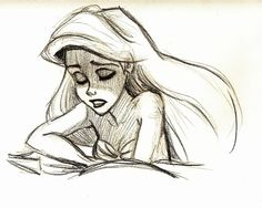 Sad Ariel by TheLittleDuck on DeviantArt Disney Animation, Disney Pixar, Disney And Dreamworks, Disney Kunst, Arte Disney, Disney Art, Disney Sketches, Disney Drawings, Disney Little Mermaids