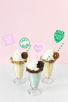 Troop Beverly Hills Girl Scout Cookie Milkshakes | studiodiy.com
