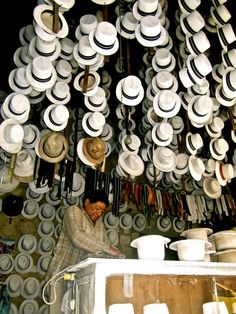 Panama Hat Maker - Cuenca, #Ecuador. Nathan will definitely want one of these when we are there.  NOTE:  CUENCA ECUADOR, NOT PANAMA!