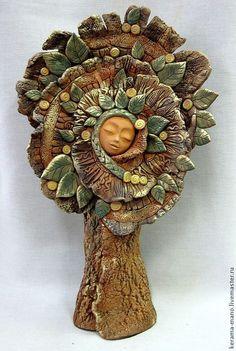 """Купить Дерево """" Гармония""""-2 - оливковый, дерево, древо жизни, керамика ручной работы"""
