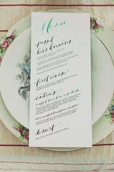 hand drawn wedding menu by paperfinger