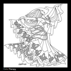 Dancer coloring page