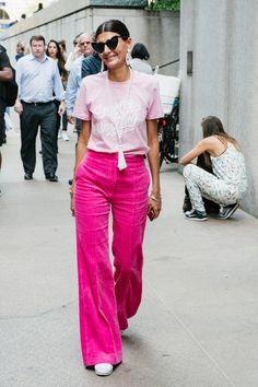 Giovanna Battaglia in NYC 70s Fashion, New York Fashion, Fashion News, Fashion Outfits, Womens Fashion, Fashion Trends, Giovanna Battaglia, Divas, Nyfw Street Style