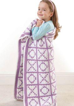 FREE Pattern -- Hugs & Kisses Blanket | Crochet Blanket | XOXO Blanket  Pattern from @joannstores