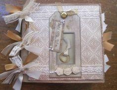 *GINNY* GOLD WEDDING Paperbag Scrapbook Album