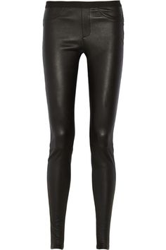 Helmut Lang | Stretch-leather leggings | NET-A-PORTER.COM