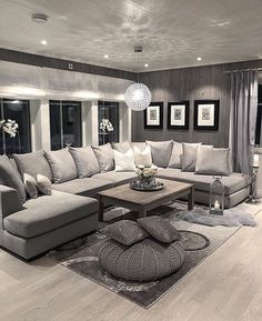 There are many elegant living room ideas that you might decide to get applied in your living room design. Because you have landed here then most probably you want Elegant living room answer. Next Living Room, Living Room Decor Cozy, Elegant Living Room, Living Room Grey, Interior Design Living Room, Home And Living, Living Room Designs, Interior Livingroom, Cozy Living